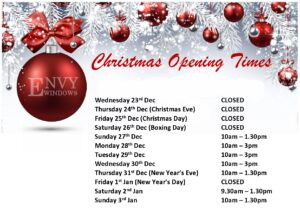 Envy Windows Christmas Opening Times